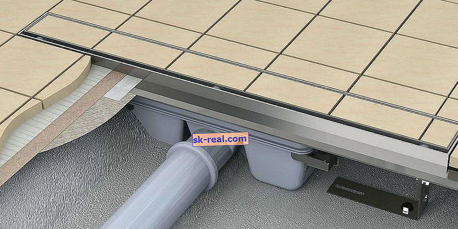 Трап для душа в підлозі під плитку: вибір і установка