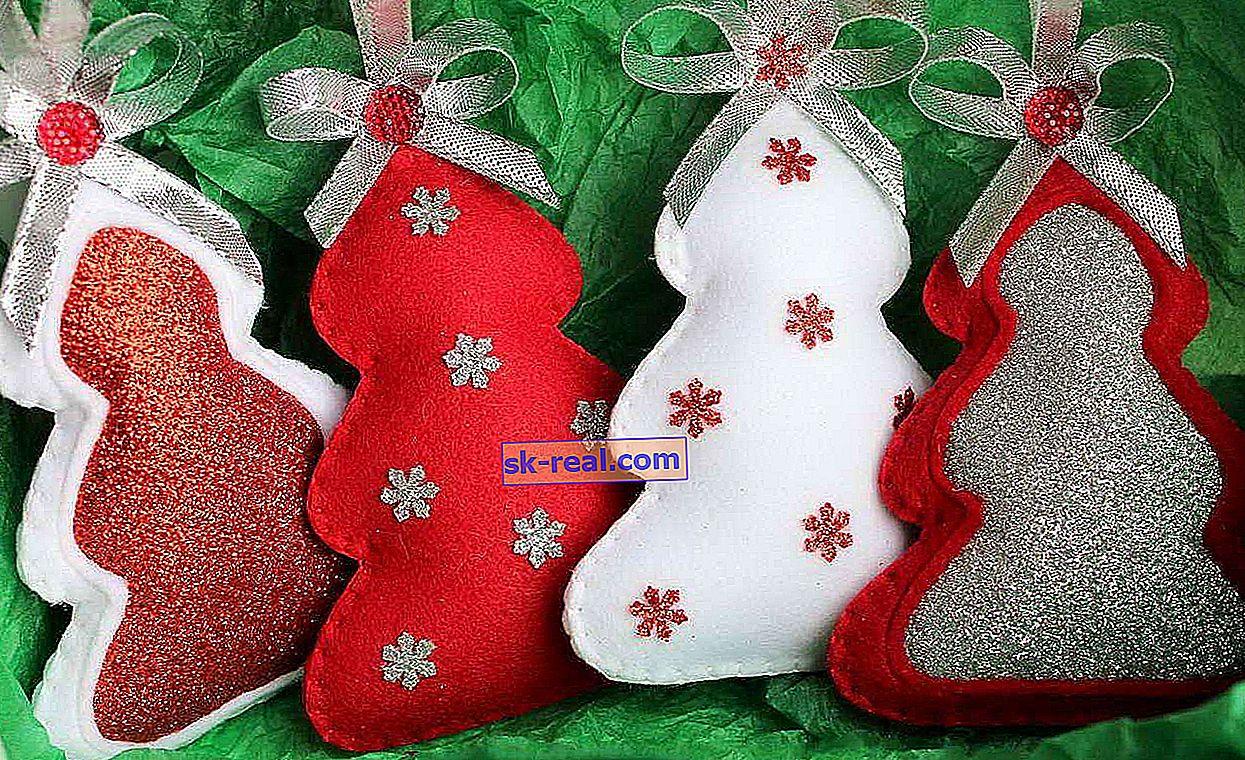 Kako napraviti igračke za božićno drvce od filca vlastitim rukama?