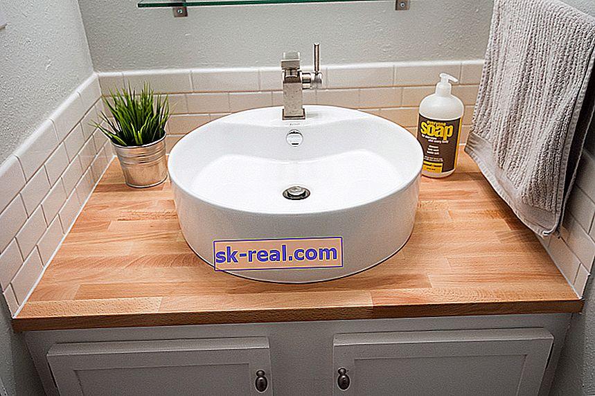 Вибираємо стільницю під раковину для ванної кімнати