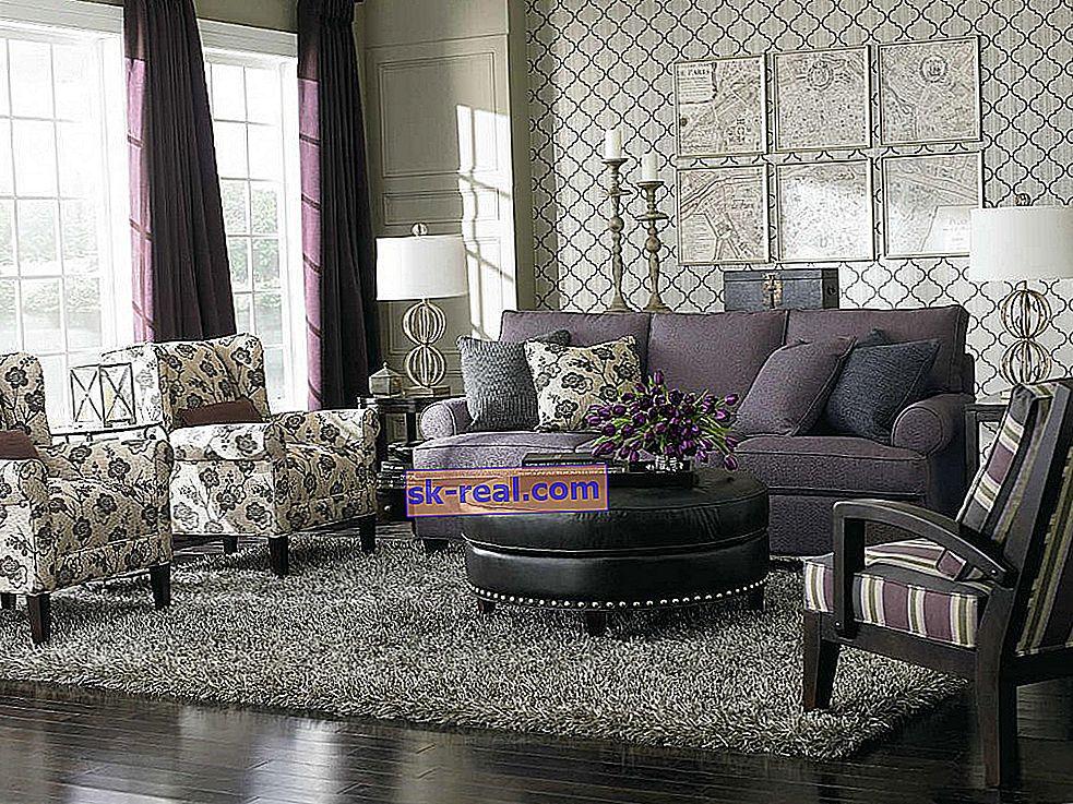 Tapacirani namještaj za dnevnu sobu: lijepe mogućnosti u unutrašnjosti