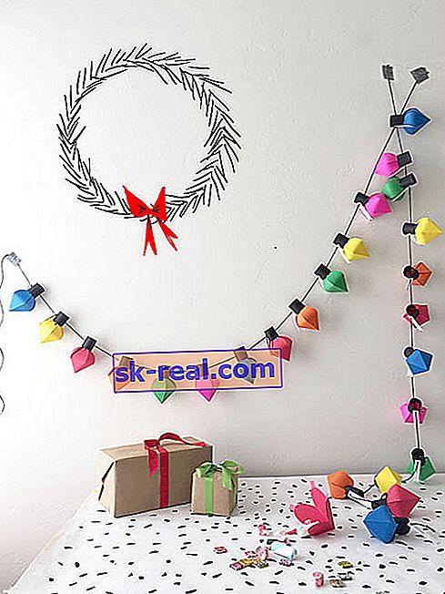 Kako napraviti božićni vijenac od papira vlastitim rukama?