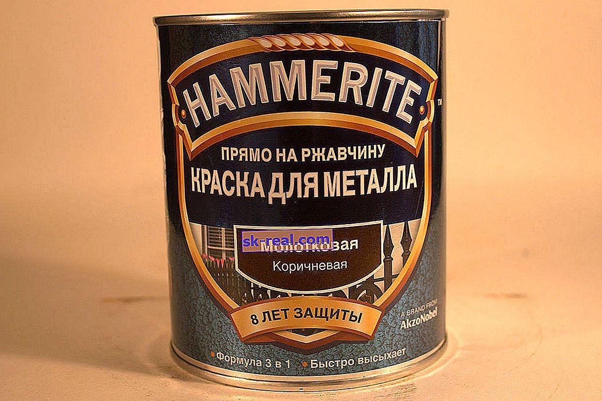 Как да нанасям боя с чук върху метал?