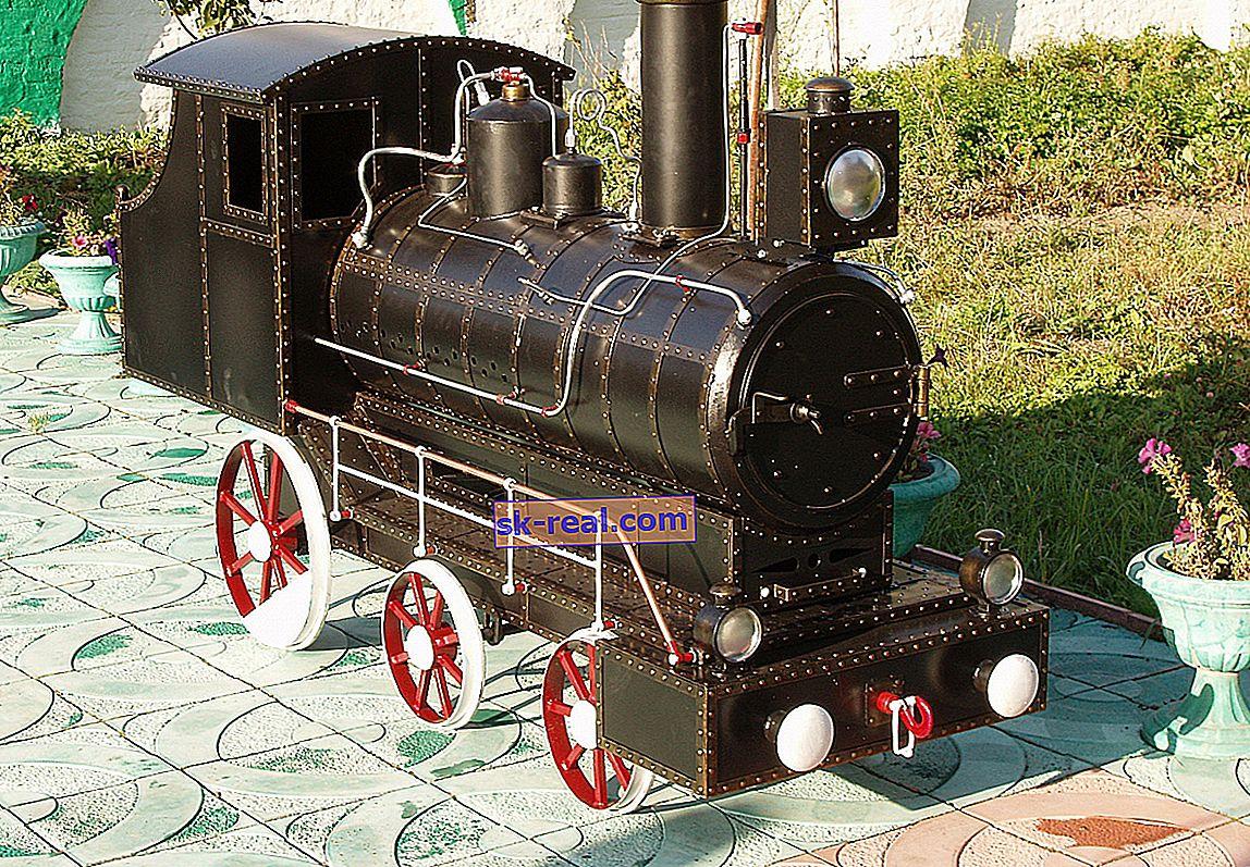 Мангал у формі паровоза: оригінальна конструкція на вашій ділянці