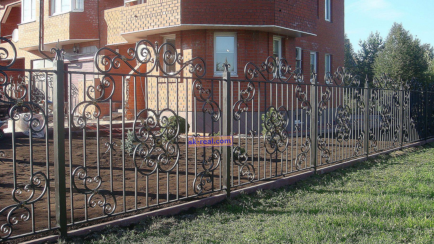 Kovane ograje: čudovite oblikovalske ideje