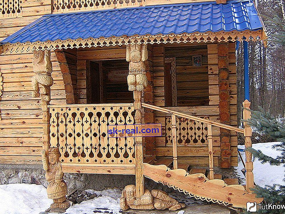 Trijem u drvenoj kući: vrste i suptilnosti proizvodnje