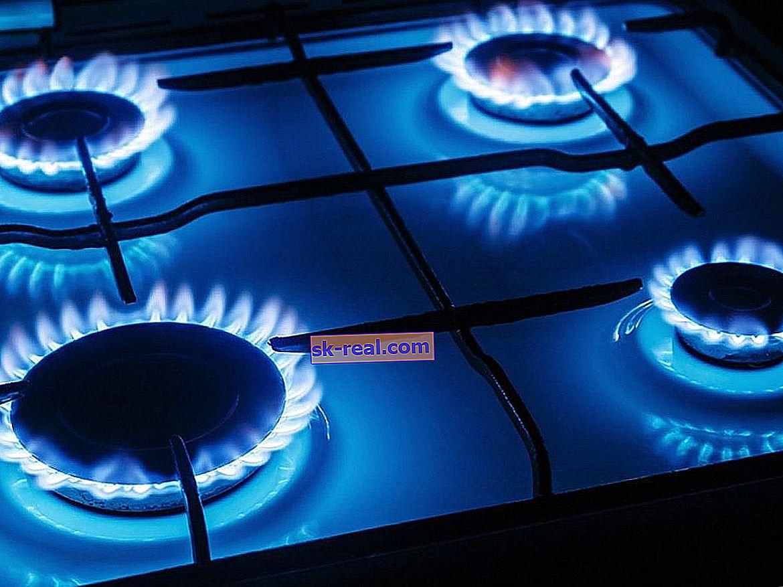 Temperatura zgorevanja plina v plinskem štedilniku