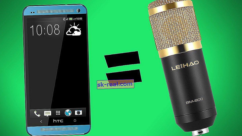 Jak zrobić mikrofon z telefonu?