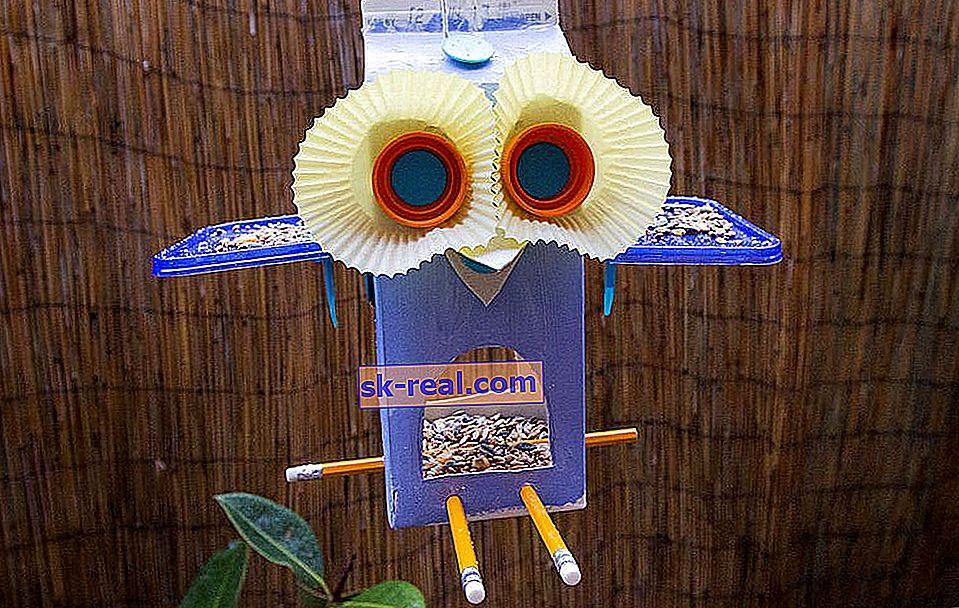 Kako narediti kartonske hranilnike za ptice z lastnimi rokami?