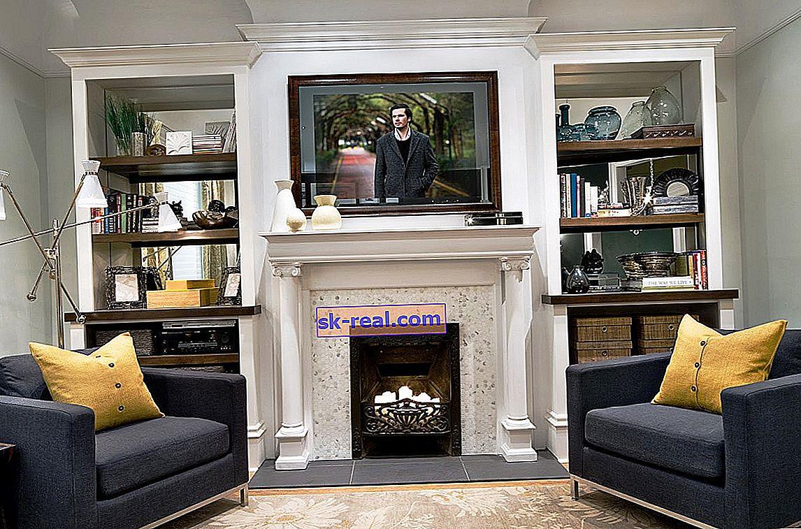 Телевізор над каміном в дизайні інтер'єру