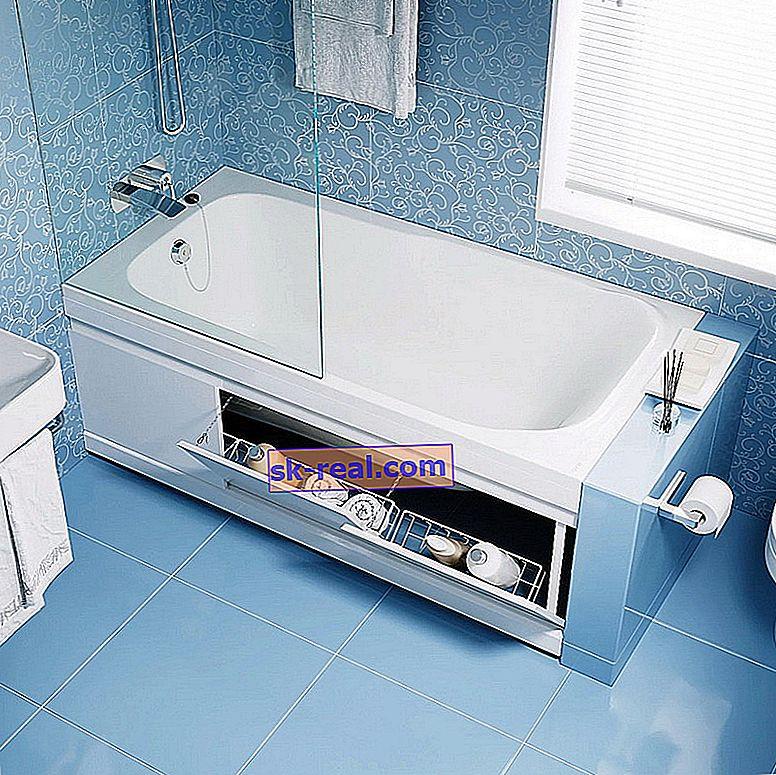 Екрани під ванни: види і поради щодо вибору