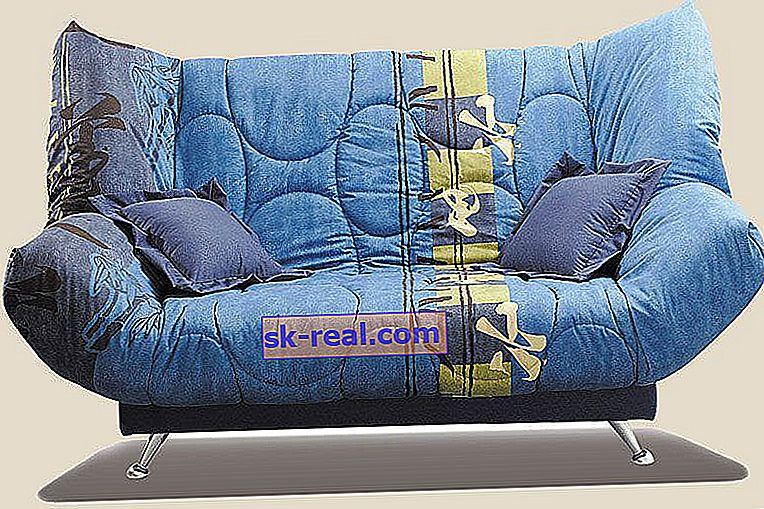 "Sofa z mechanizmem ""Click-clack"""